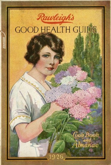 Woman with bouquet of lilacs