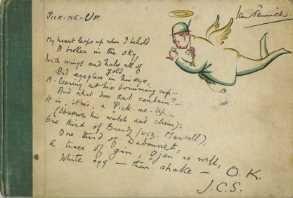 Front cover, including a handwritten recipe poem.